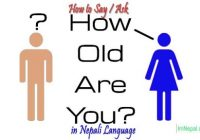 How To Say Aks How Old Are You in Nepali Language - Learn Nepali through English Language