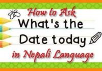 How to Ask Today's Date in Nepali