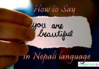 How to say write or praise you are beautiful in Nepali language - Learn Nepali through English