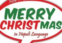 how do you say merry christmas in nepalese language