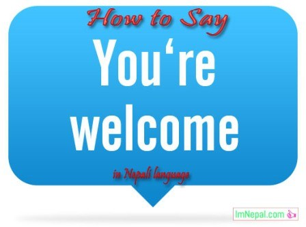 How to Say You Are (You're) Welcome In Nepali Language Learning online through English