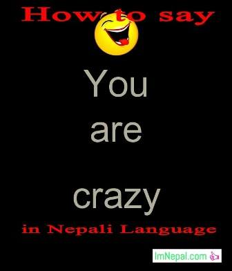 How to say you are crazy in Nepali language - learning nepali language through english language
