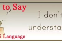 How to say i dont' understand in nepali language - learning nepali language through english langauge